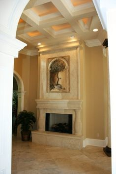 Great Room- Designed and Builder - Waugh Custom Homes fireplace idea Home, Design Remodel, Custom Homes, House Design, Custom Home Designs, Big Houses, Remodel, Room, Fireplace