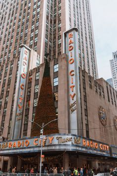 Radio City Music hall in New York City. How to spend Christmas in New York: See a Rockettes show!
