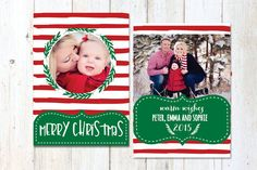Christmas Photo Card  Christmas Card Template by MerryElleDesign