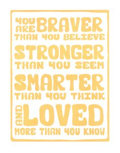 Pooh Inspired Typography Art Print Letterpress by FreshPrintsofCT, $17.00