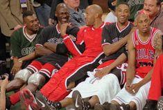Michael Jordan, Ron Harper, Scottie Pippen and Dennis Rodman