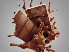 Carefuly crafted chocolates for product pachage Direct Client: Portinari Propaganda Final Client: Don Guerrier Chocolates Chocolate Letters, Chocolate Shapes, Chocolate Work, Chocolate Brands, Photography Ideas At Home, Food Photography, Chocolates, Milk Splash, Photo Packages