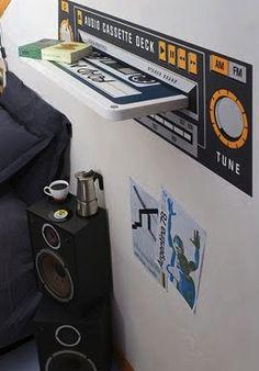 Super ideia para o quarto de adolescentes amantes do Rock. #ficaafica