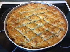 Μελιτζανόπιτα χωρίς πολύ λάδι ούτε στη γέμιση ούτε στο φύλλο Bakery Recipes, Apple Pie, Quiche, Nutella, Pizza, Cheesecake, Bread, Vegetables, Breakfast