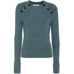 Isabel Marant, Étoile Koyle Cotton and Wool Sweater (1.190 BRL) ❤ liked on Polyvore featuring tops, sweaters, blue, woolen tops, blue sweater, etoile isabel marant sweater, blue top and cotton sweaters