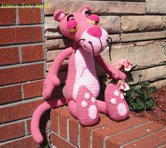 Big Pink Panther Pattern $5.00 on Ravelry at http://www.ravelry.com/patterns/library/big-pink-a-crochet-pattern