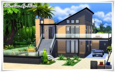 Casa Bunker - The Sims 4 ( no cc ) The Sims 4 Houses, Sims 3 Houses Ideas, Sims 2 House, Sims 4 House Plans, Sims 4 House Design, My House, Sims Ideas, Casa Bunker, Bunker Home