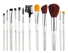 This complete Brush Set includes all of the Essential eyes, lips, and face makeup brushes you need to complete your flawless look. From eye shadow and liner, to concealer and foundation, the Professional Brush Set is just what you've been looking for! Essential Makeup Brushes, Best Makeup Brushes, Makeup Brush Set, Best Makeup Products, Beauty Products, Mac Brushes, Hair Products, Affordable Makeup Brushes, Elf Makeup