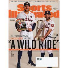 cd638989e Jose Altuve Houston Astros Fanatics Authentic 2017 MLB World Series  Champions Autographed Wild Ride Sports Illustrated Magazine