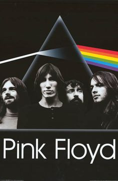 """Pink Floyd adorn this great Dark Side of the Moon poster like a Mount Rushmore of Rock! Fully licensed. Ships fast. 24x36 inches. Take some """"Time"""" to check out the rest of our amazing selection of Pin"""