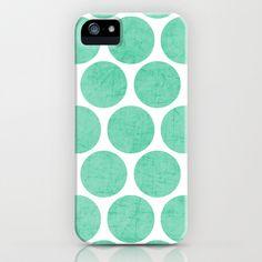 mint+polka+dots+iPhone+