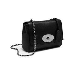 Mulberry - Lily in Black Glossy Goat with Silver Tone