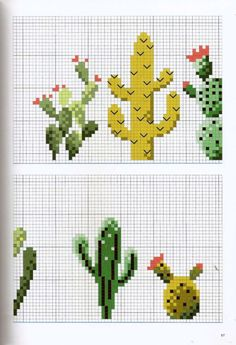 Embroidery Art, Cross Stitch Embroidery, Cross Stitch Patterns, Cactus Cross Stitch, Cross Stitch Flowers, Rico Design, Cross Stitching, Needlepoint, Diy And Crafts