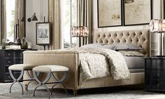 Rooms | Restoration Hardware - soft & hard; cream & black; neutral but not dull