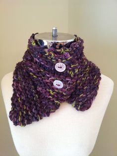 Chunky Urban Neck Warmer Hand  Knit Scarf by IntricateKnits,