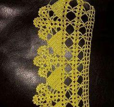 Pin on Crochet Stitches Crochet Boarders, Crochet Lace Edging, Crochet Art, Crochet Squares, Filet Crochet, Love Crochet, Crochet Doilies, Crochet Stitches, Crochet Flowers