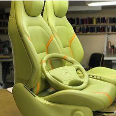 Automotive Upholstery, Custom Car Interior, Steering Wheels, Car Interiors, Ford Transit, Custom Cars, Concept Cars, Volkswagen, Car Seats