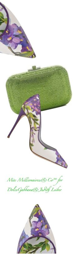 DolceGabbana and Judith Leiber  ~ Summer Floral Pumps + Fern Green Clutch https://ladieshighheelshoes.blogspot.com/2016/10/womens-shoes.html