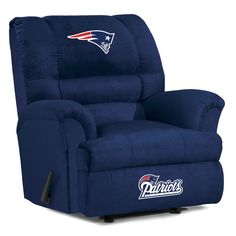 The Auburn University Big Daddy Microfiber Recliner by Imperial, a man cave fan reclining chair. The Big Daddy recliners are a mans dream for game rooms or fan caves! Denver Broncos, Seattle Seahawks, Pittsburgh Steelers, Liverpool, Nfl Buffalo Bills, Nfl New York Giants, Big Chair, Rocking Chair, Auburn University