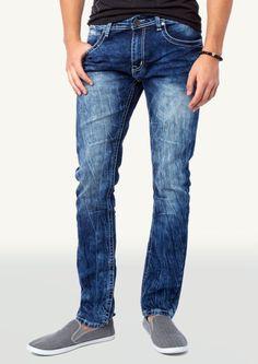 6bef114b95 Bleached Whisker Wash Skinny Jean
