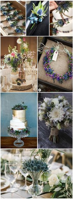 Wedding Flowers » Thistle» Top 10 Flowers Themed Wedding for Outdoor Ceremony » ❤️ See more: http://www.weddinginclude.com/2017/06/flowers-themed-wedding-for-outdoor-ceremony/