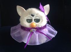 """Outfit for Furby or  New Furby Boom handmade clothes """"Sophie's Violet Glitter"""""""