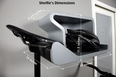 Shelfie is a contemporary design that will look perfect inside your home, with or without a bike.