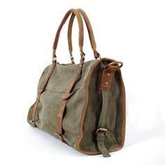 "Handmade Antique Leather Canvas Briefcase / Messenger / 13"" 14"" Laptop Bags / 13"" 15"" MacBook Bag (M108)"