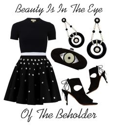 """""""Beauty Is In the Eye Of The Beholder"""" by latoyacl ❤ liked on Polyvore featuring Michael Kors, Giambattista Valli, Edie Parker and Aquazzura"""