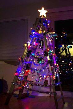 Redneck Christmas Lights.103 Best Ladder Christmas Tree Images In 2019 Ladder