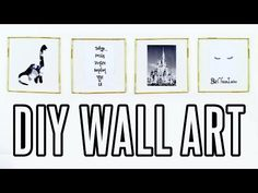DIY Tumblr Wall Art! Cheap & Easy Room Decor | rosaliesaysrawr - YouTube