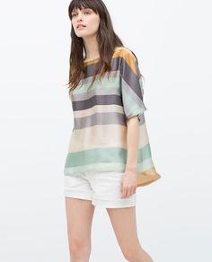 $49.90 KIMONO SLEEVE STRIPED BLOUSE from Zara