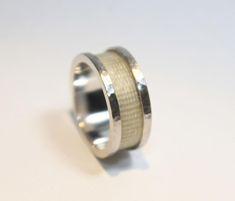 Horsehair Memory Ring, Custom Horsehair Ring, www.verstara.com Horse Hair Jewelry, Rugged Look, Hair Rings, Horsehair, Wide Rings, Verse, Jewelry Stores, Take That, Jewelry Making