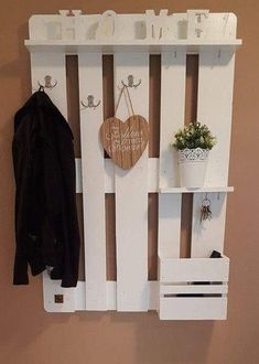 Wardrobes - Pallet Furniture Wardrobe in White - a designer .- Garderoben – Palettenmöbel Garderobe in Weiß – ein Designerstück von Deco-and… Wardrobes – Pallet Furniture Wardrobe in White – a unique product by Deco-and-Lights on DaWanda - Pallet Furniture Wardrobe, Wood Furniture, Furniture Ideas, Furniture Online, White Furniture, Cheap Furniture, Inexpensive Furniture, Furniture Websites, Furniture Outlet
