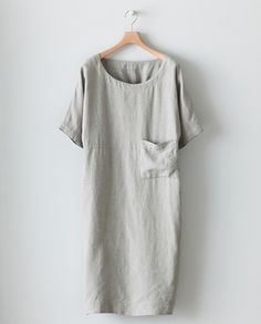 poetry linen dress - love the color Dress Skirt, Dress Up, Tee Dress, Mode Cool, Oversized Dress, Linen Dresses, Look Chic, Beautiful Dresses, Upcycled Clothing