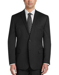 Pronto Uomo Charcoal Modern Fit Suit - Men's Suits | Men's Wearhouse Tuxedo Rental, Fitted Suit, Wool Suit, Suit Separates, Work Looks, T Shirt Diy, Sport Coat, Mens Suits