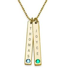 Swarovski Vertical Bar Necklace For Mothers