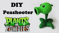 DIY: Como Fazer o Peashooter de PLANTS vs. ZOMBIES Tutorial em Biscuit / Polymer clay