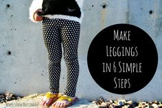 Today I get to share an easy leggings tutorial! With all the fun knit that is becoming available I make leggings for my girls all the time. It's really easy…all you have to do is follow these 6 steps: #1.  Grab a pair of leggings that fit well.  Fold them in half (as shown in …
