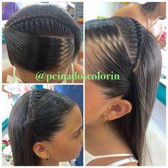 Bella y sencilla trenza en colorin peluquerías tenemos las mejores opciones para las nenas