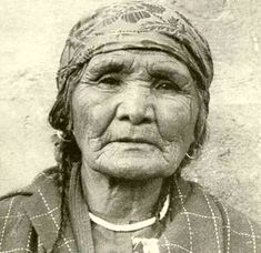 Mattie, daughter of Chief Edward, c. 1950.  Photo: Northwest Museum of Arts and Culture