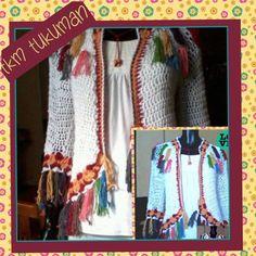 saco crochet con flecos by tkm