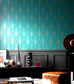 Stunning leaf designer pattern wall stencil home decoration