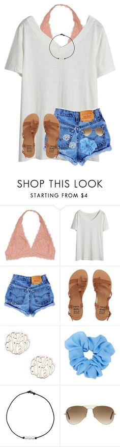 """Bonfire 🌼"" by ponyboysgirlfriend ❤ liked on Polyvore featuring Youmita, Billabong, Danielle Stevens and Ray-Ban"