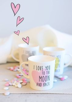 Morning Coffee, Place Cards, Place Card Holders, Gift Ideas, Mugs, My Love, Tableware, Gifts, Dinnerware