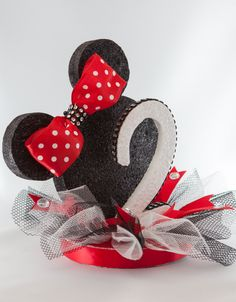 Minnie Mouse Cake Topper by EllasPartyDesigns on Etsy, $24.95