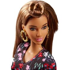Meet The New Crew of Fashionistas! Check out the Barbie Fashionistas Doll 74 Rosey Romper - Original (FJF38) right now at the official Barbie website!