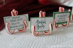 Candy Cane place holders.  Buzzfeed.com