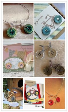 Cute Button Bicycle Accessories Craft Ideas | DIY Tag