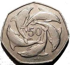 50p Dolphin at Rare British Coins The 50p Dolphin coin was issued in Gibraltar. As the Royal Mint does in the UK, other British territories also issue their own special coinage and while it isn&#82…